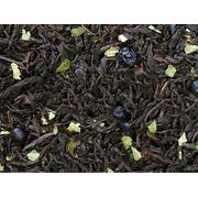 Черный ароматизированный чай Черника в йогурте