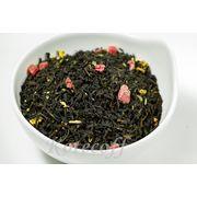 Черный ароматизированный чай  Дикая вишня с ягодой