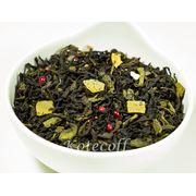 Черно-зеленый ароматизированный чай Сочный грейпфрут