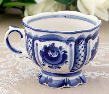 Чашка керамическая «Надежда»  в стиле Гжель
