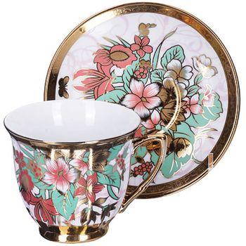 Чайная пара Цветы на 1 персону