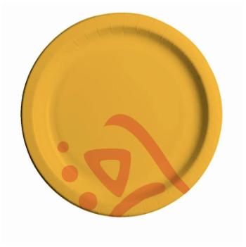 Тарелка бумажная цветная 180 мм  100 шт